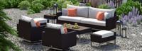Milo™ Espresso 8 Piece Motion Seating Set - Cast Coral