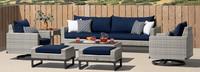 Milo™ Gray 8 Piece Motion Seating Set - Navy Blue