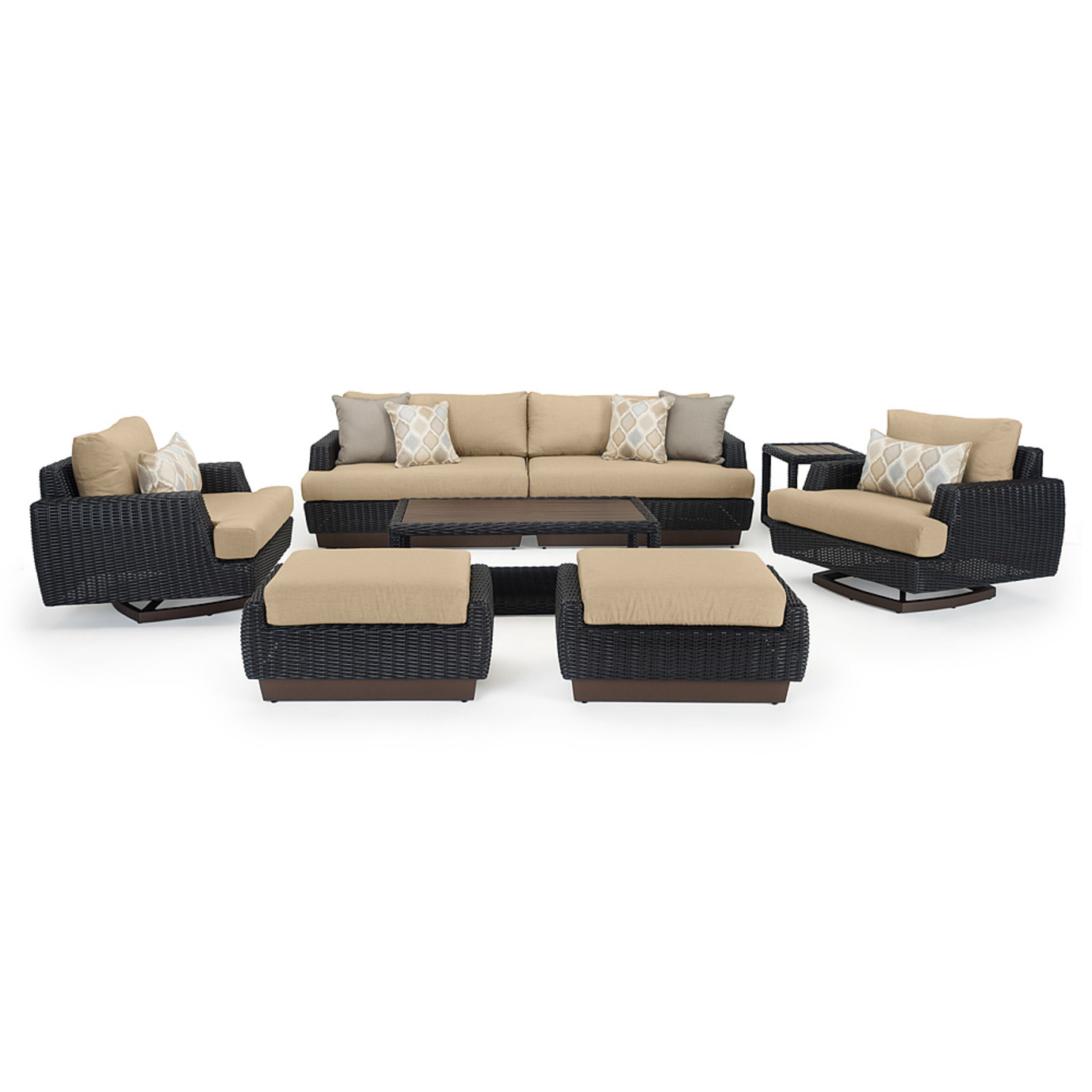 Portofino® Prestige 8pc Motion Deep Seating Set - Espresso