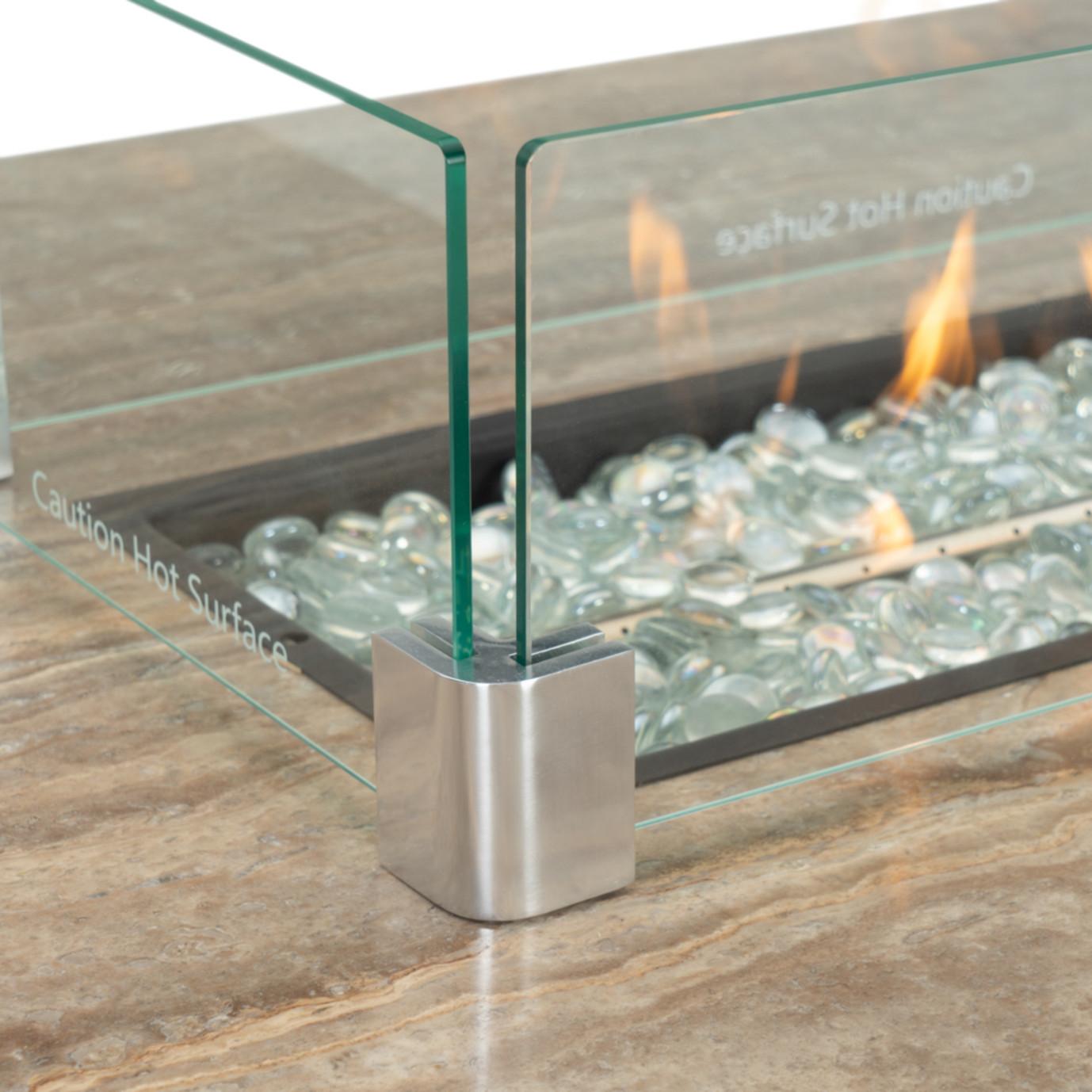 Portofino® Comfort 8 Piece Motion Fire Seating - Laguna Blue