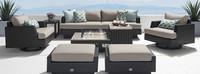 Portofino® Comfort 8 Piece Motion Fire Seating - Taupe Mist