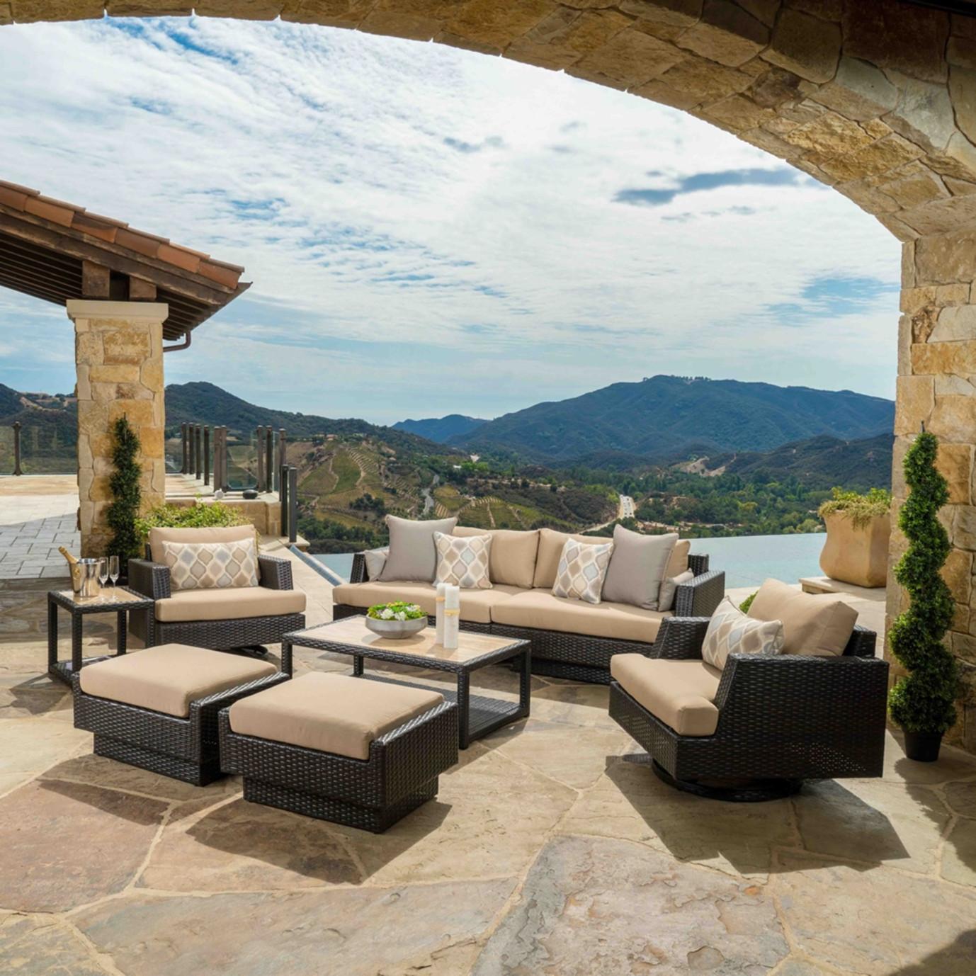 Portofino™ Comfort 8pc Motion Club Seating Set - Heather Beige