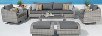 Cannes™ Deluxe 8 Piece Sofa & Club Chair Set - Bliss Ink