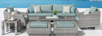 Cannes™ Deluxe 8 Piece Sofa & Club Chair Set - Cast Coral
