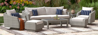 Cannes™ Deluxe 8 Piece Sofa & Club Chair Set - Gray