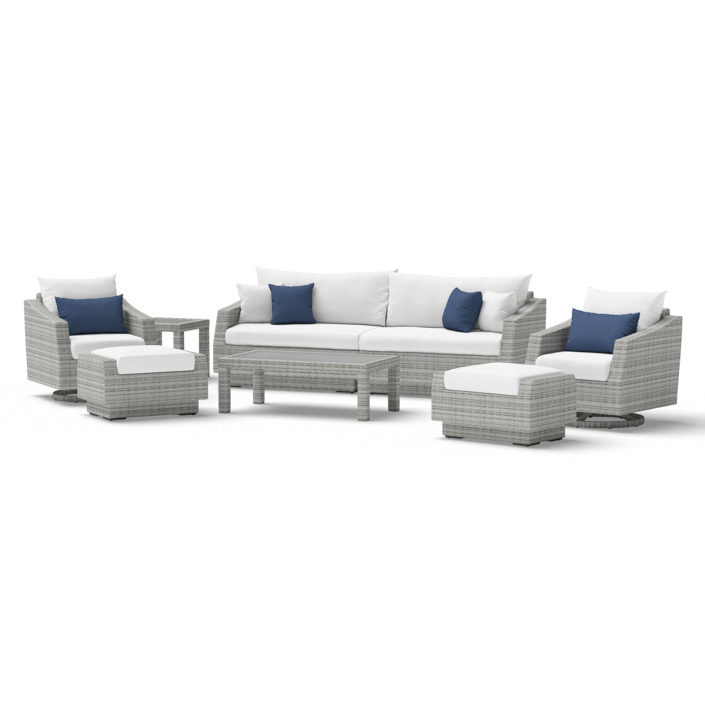 Cannes™ Deluxe 8 Piece Sofa & Club Chair Set