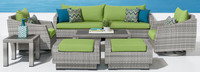Cannes™ Deluxe 8 Piece Sofa & Club Chair Set - Spa Blue