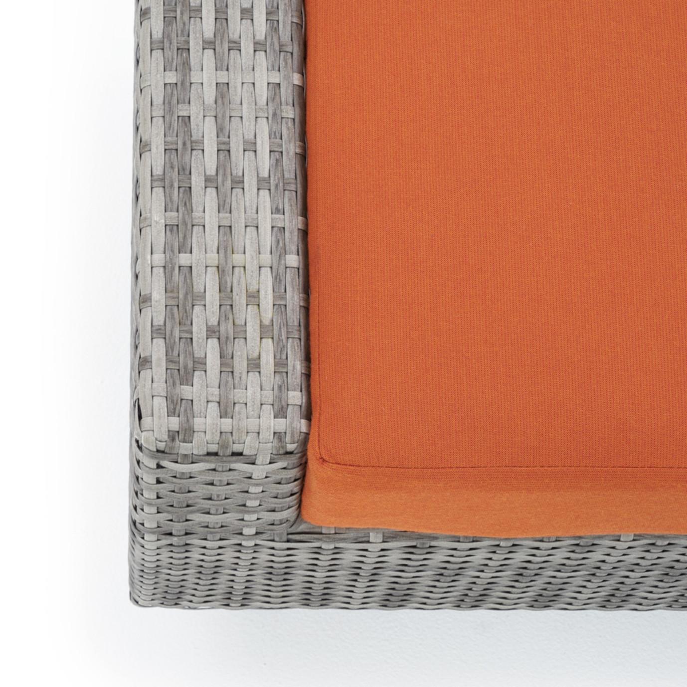 Cannes™ Deluxe 8pc Sofa & Club Chair Set - Tikka Orange