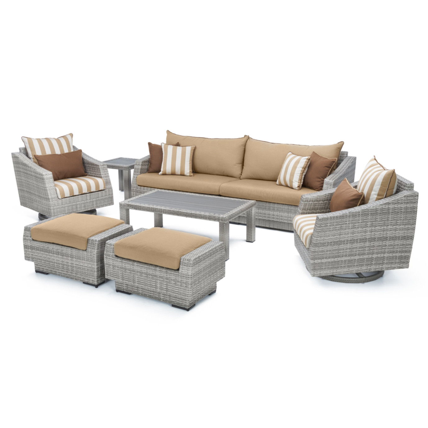 Cannes™ 8pc Sofa & Club Chair Set - Maxim Beige Design