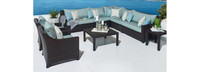 Deco™ 9 Piece Sectional and Club Set - Bliss Blue