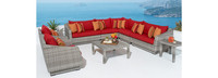 Cannes™ 9 Piece Sectional & Table - Centered Ink
