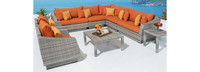 Cannes™ 9 Piece Sectional and Table - Ginkgo Green