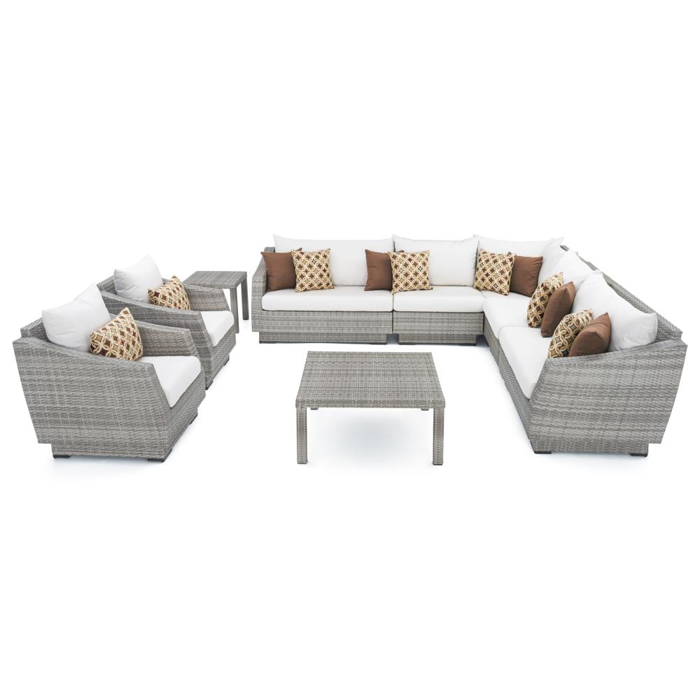 Cannes 9pc Sectional & Table - Moroccan Cream