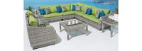 Cannes™ 9 Piece Sectional & Table - Maxim Beige