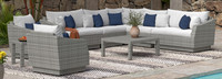 Cannes™ 9 Piece Sectional & Table - Sunset Red