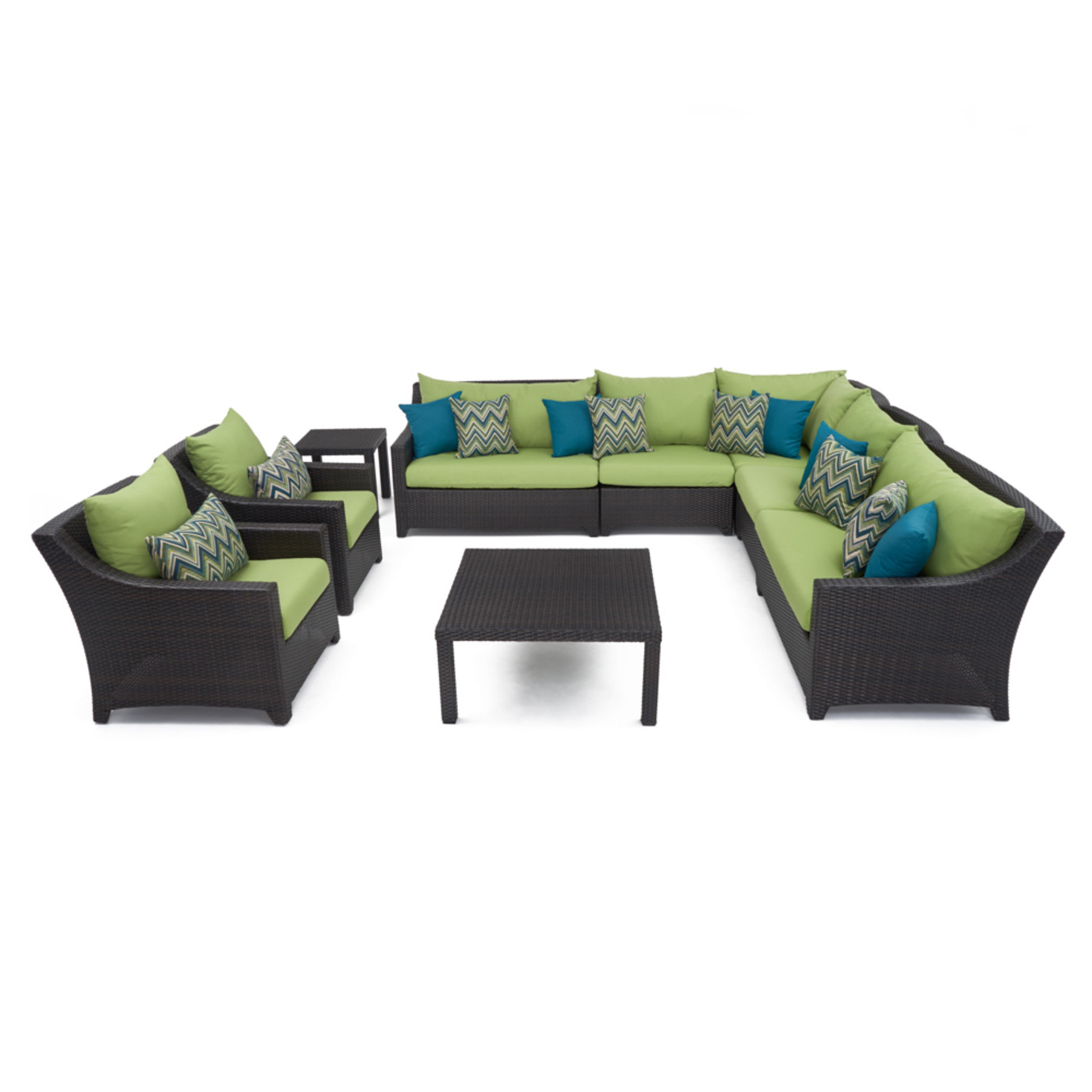 Deco™ 9pc Sectional and Club Set - Ginkgo Green