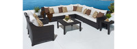 Deco™ 9 Piece Sectional and Club Set - Moroccan Cream