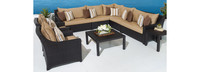 Deco™ 9 Piece Sectional and Club Set - Maxim Beige