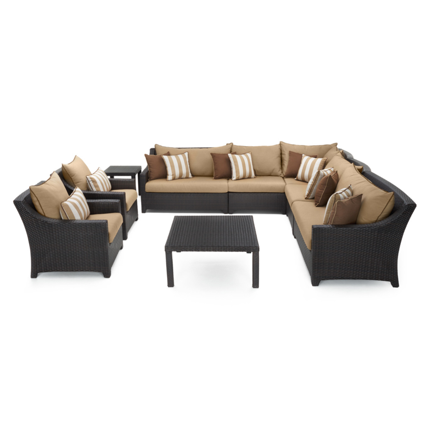 Deco™ 9pc Sectional and Club Set - Maxim Beige