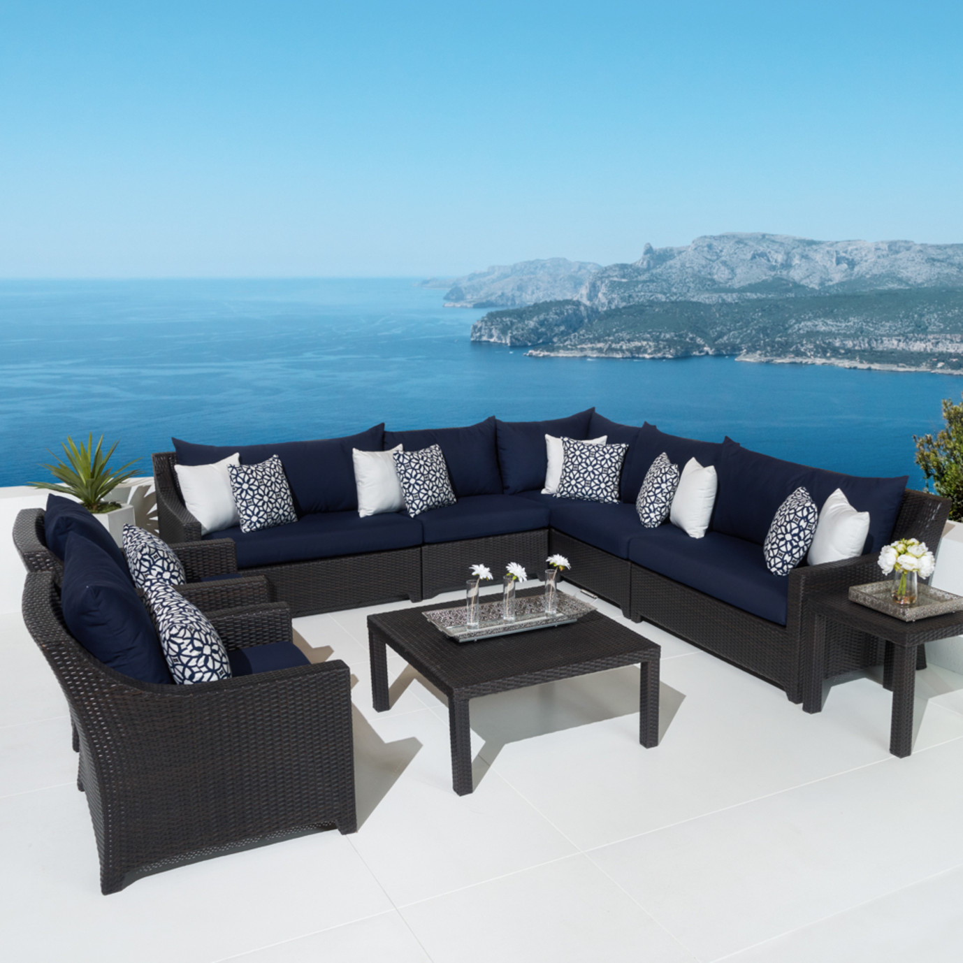 Deco™ 9pc Sectional and Club Set - Navy Blue