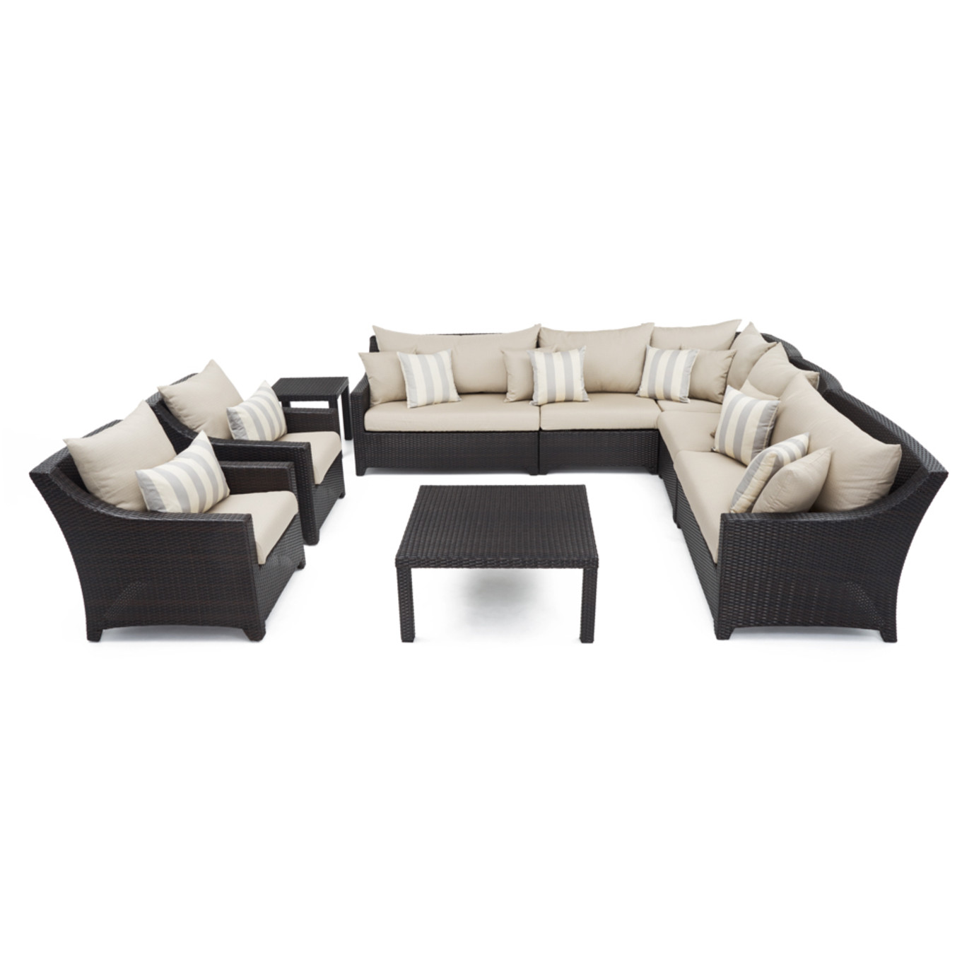 Deco™ 9 Piece Sectional and Club Set - Slate Gray
