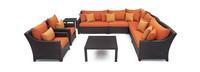 Deco™ 9 Piece Sectional and Club Set - Tikka Orange