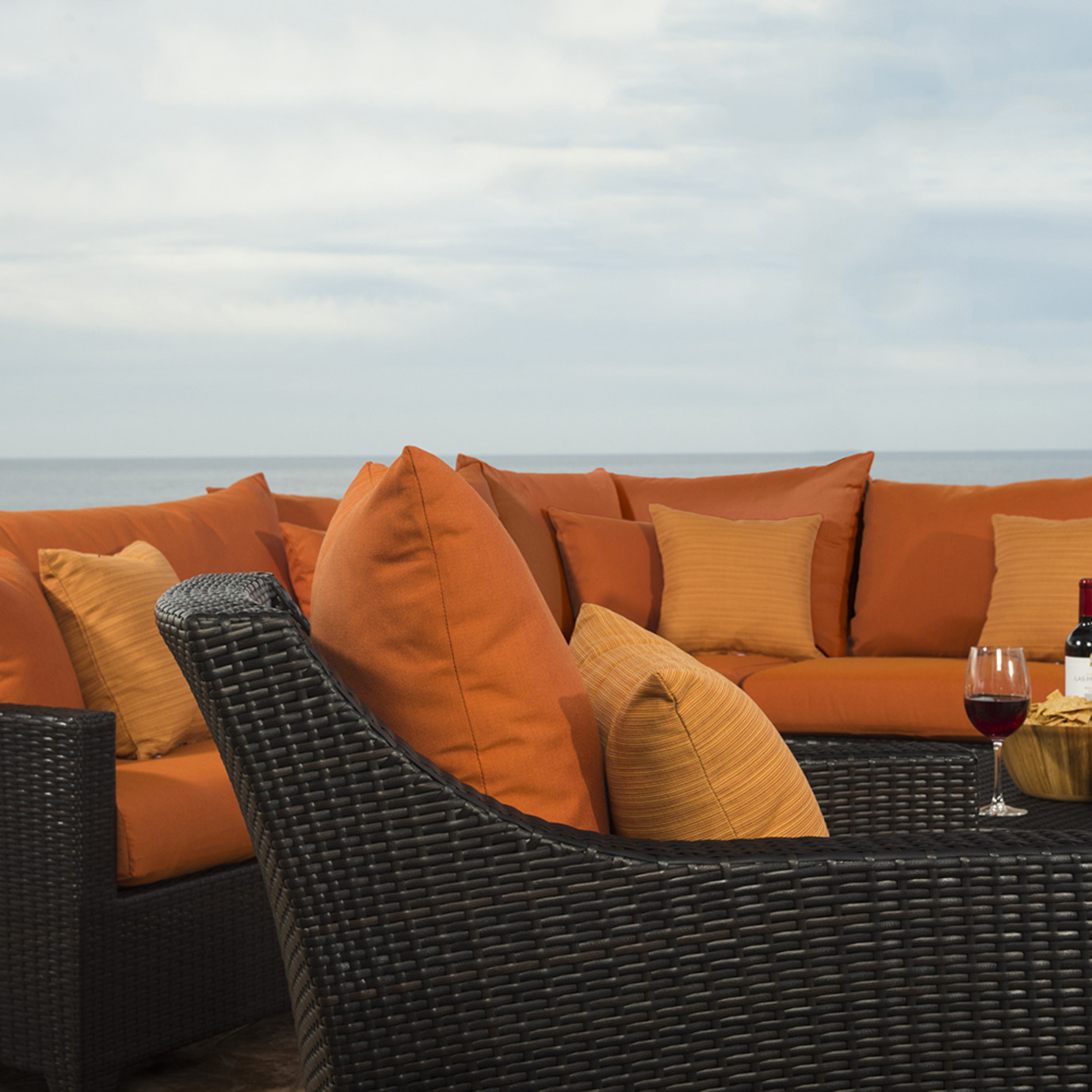 Deco™ 9pc Sectional and Club Set - Tikka Orange