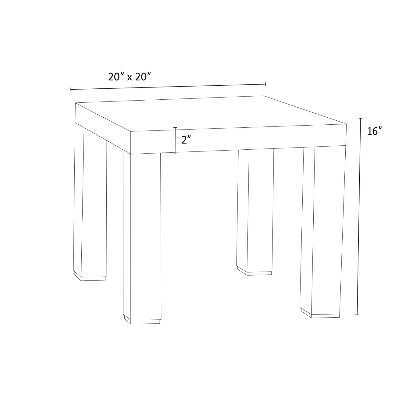 Cannes™ 20 inch Side Table