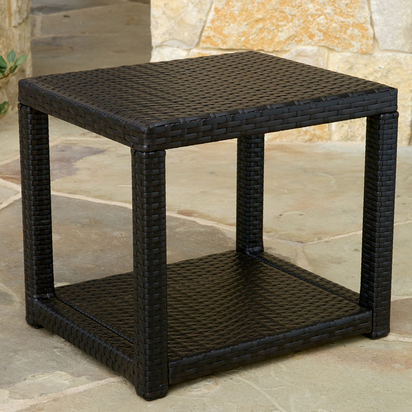 Portofino Comfort 22x18 Side Table in Espresso