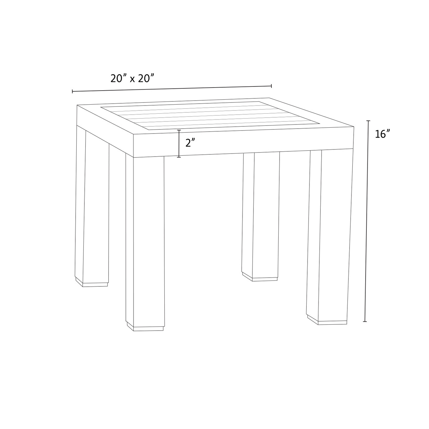 Cannes™ Deluxe Wood Top Side Table