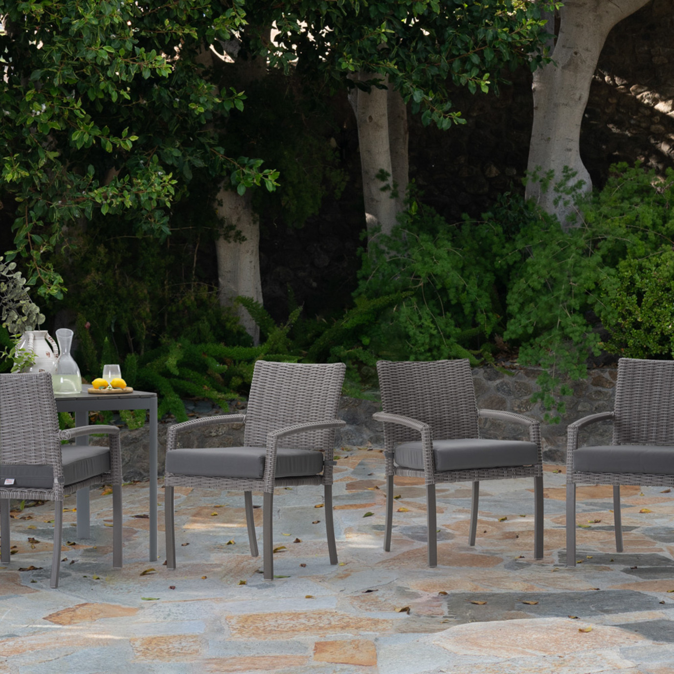 Portofino Affinity 6pc Dining Chairs - Charcoal Gray