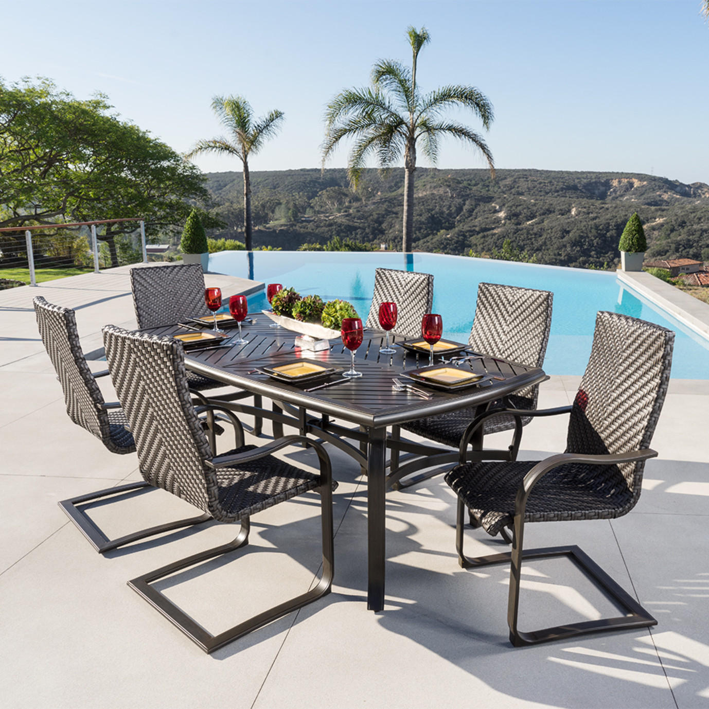 Barcelo 7pc Outdoor Dining Set Rst Brands