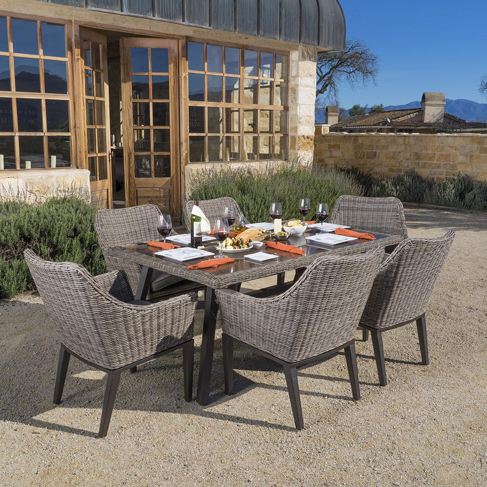 Resort Collection 7pc Dining Set in Weathered Grey Stone