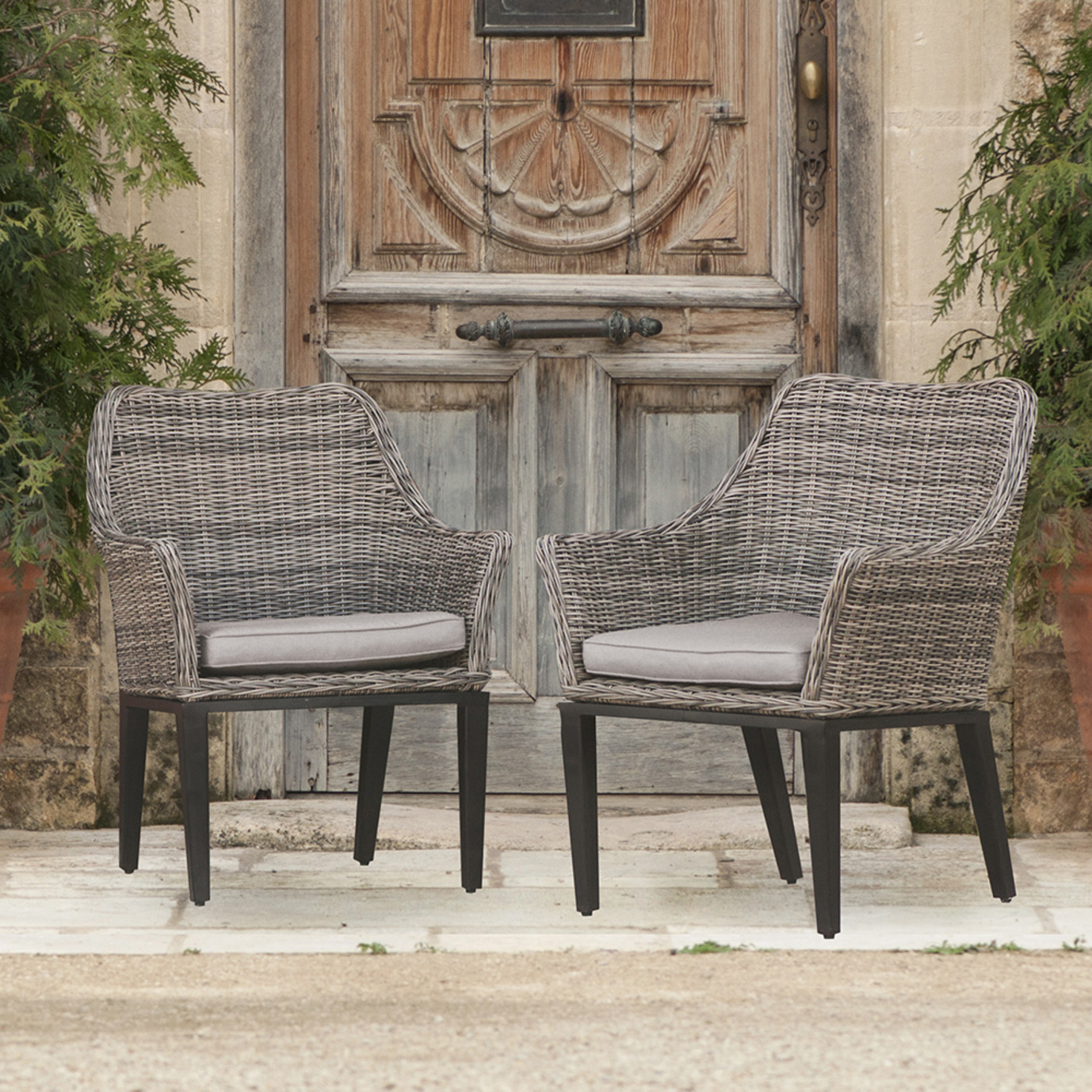 Resort 7pc Dining Set - Weathered Grey/Frank Stone