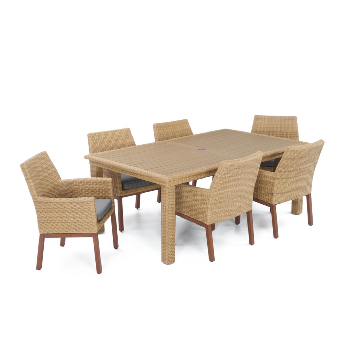 Mili™ 7 Piece Dining Set - Charcoal Gray