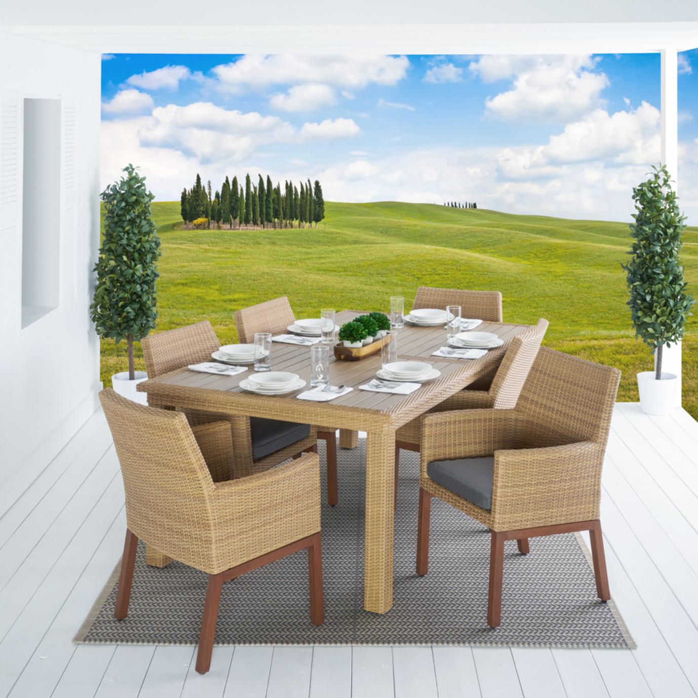 Mili™ 7pc Dining Set - Charcoal Gray