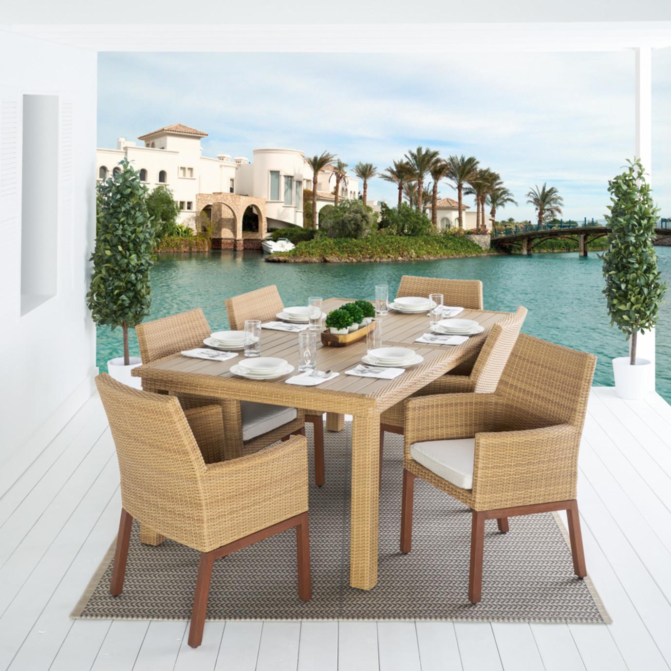Mili™ 7pc Dining Set - Moroccan Cream