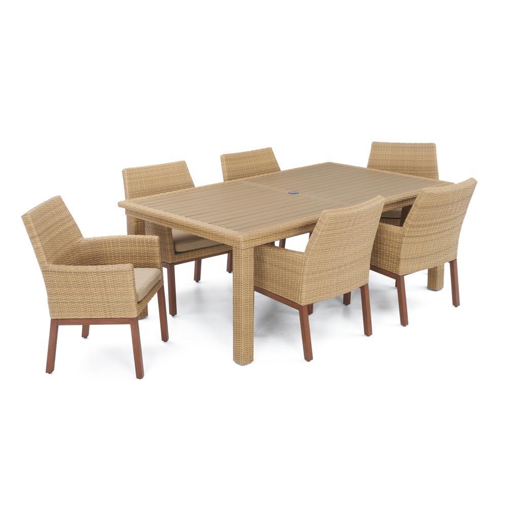 Milea Woven 7pc Dining Set - Maxim Beige