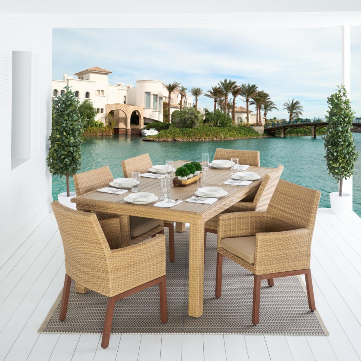 Mili™ 7 Piece Dining Set - Maxim Beige