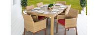 Mili™ 7 Piece Dining Set - Tikka Orange