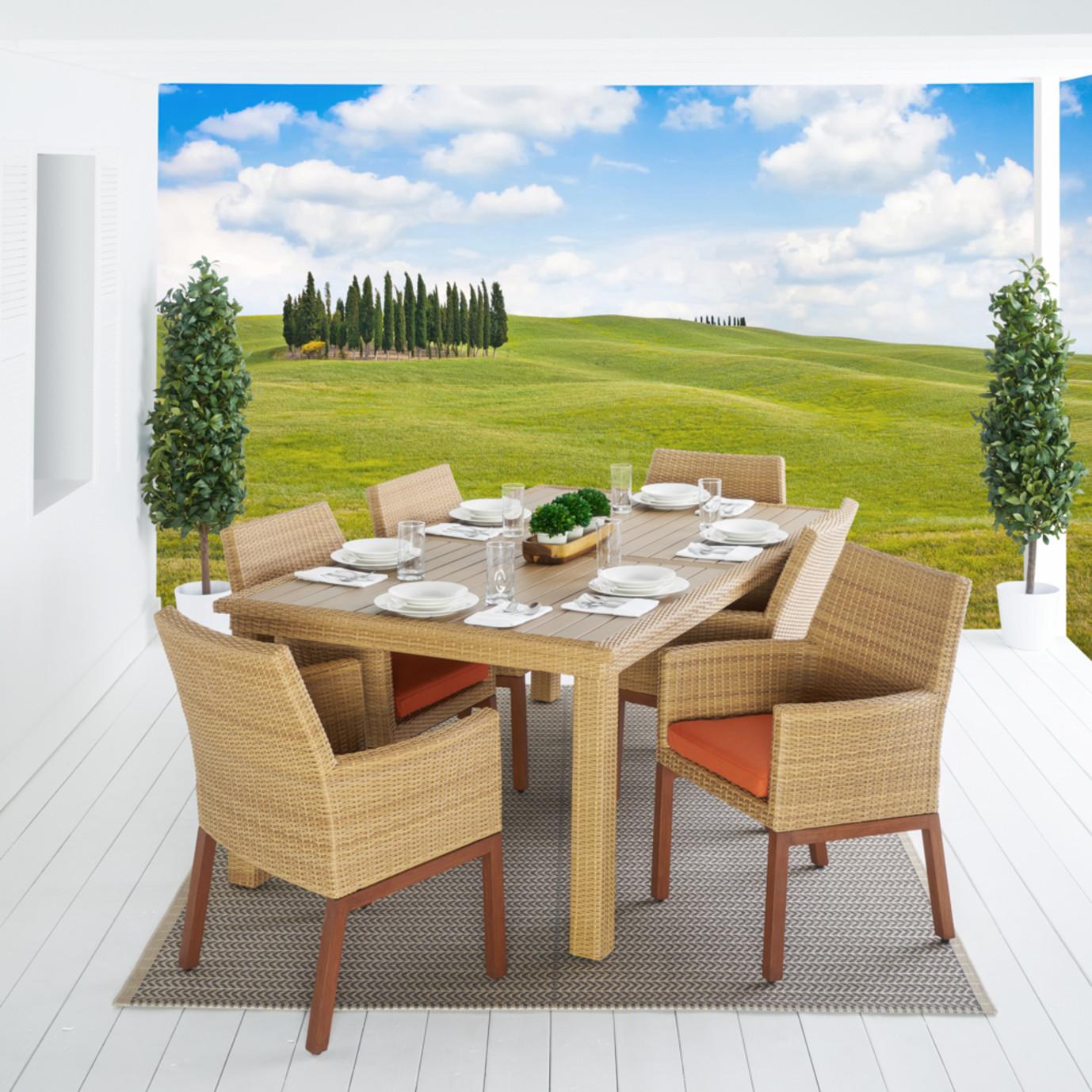 Mili™ 7pc Dining Set - Tikka Orange