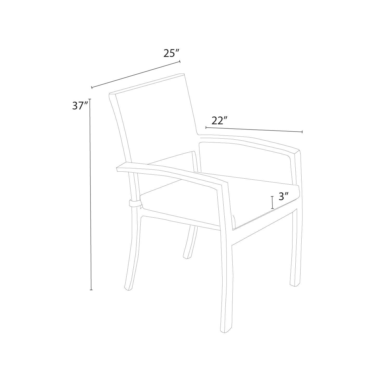 Portofino™ Comfort 6pc Dining Chairs   Espresso Taupe ...
