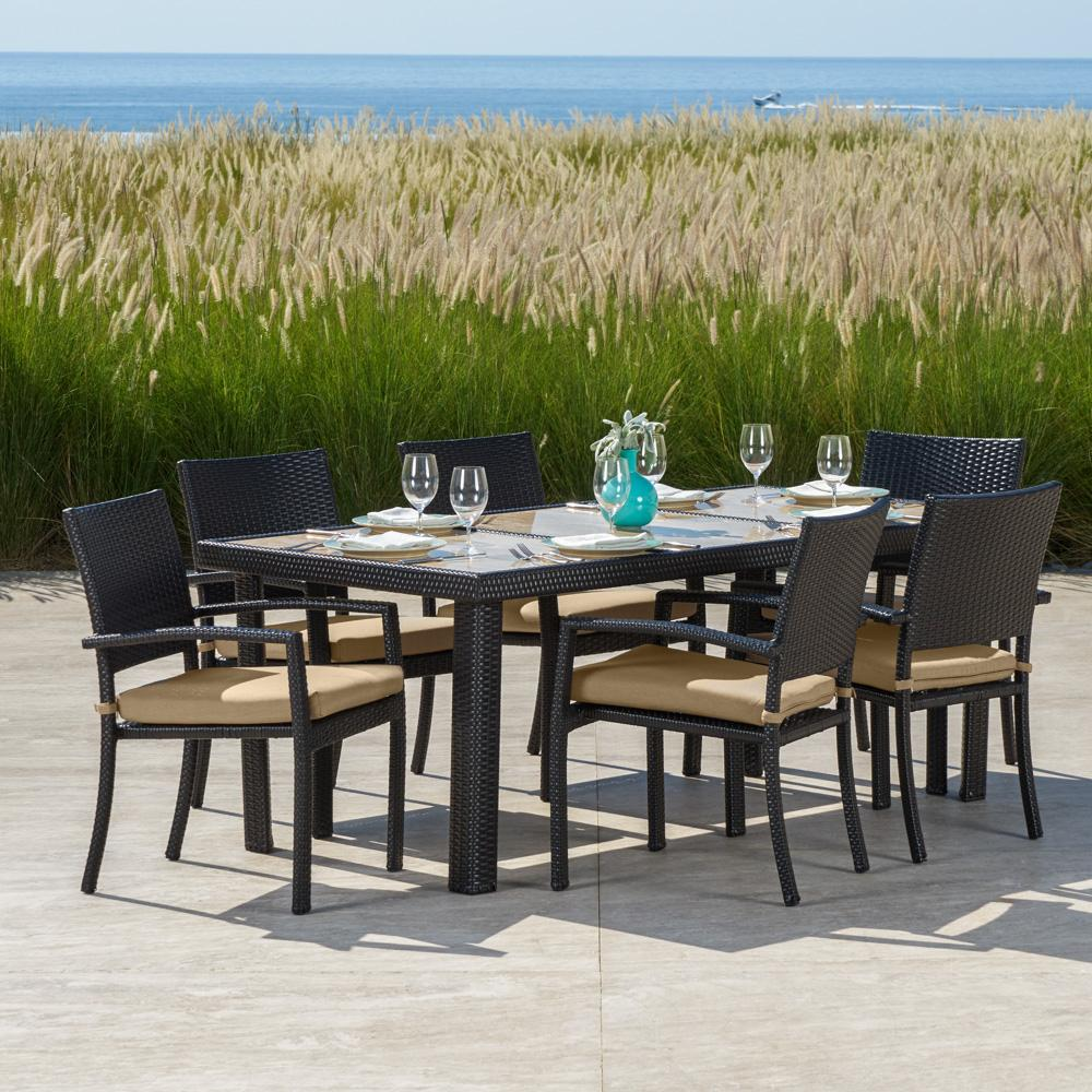 Portofino Comfort 7pc Dining Set - Heather Beige