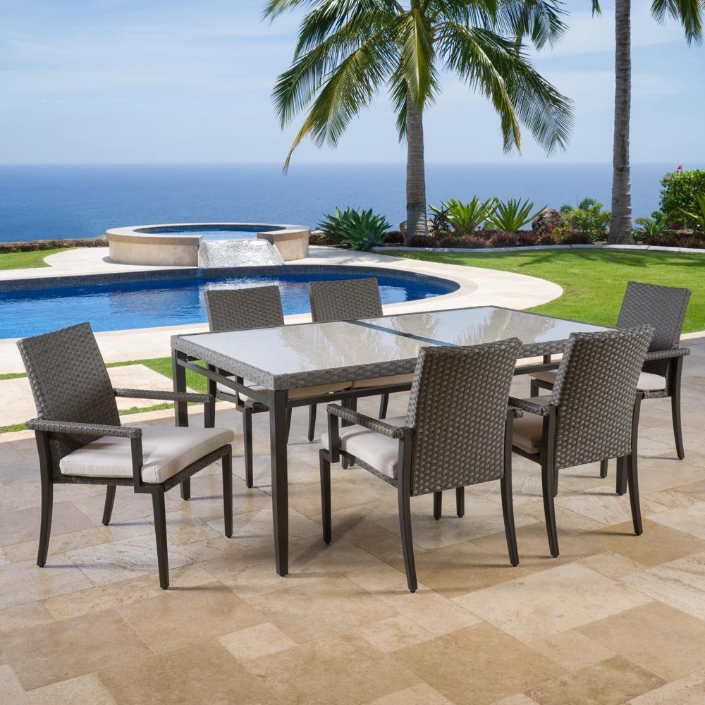 vistano 7pc outdoor dining set