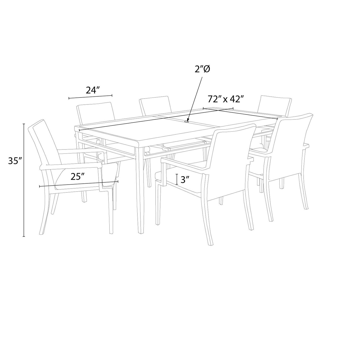 Vistano™ 7pc Outdoor Dining Set