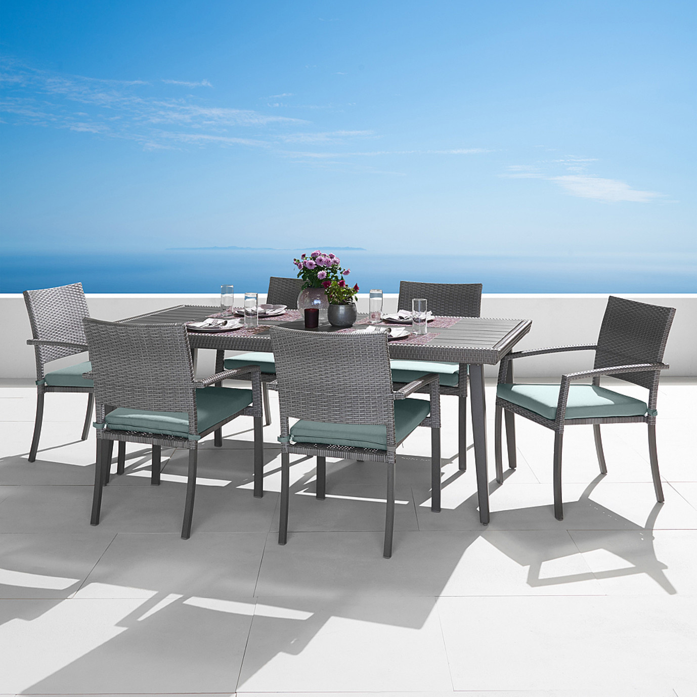 Portofino® Casual 7pc Dining Set - Spa Blue