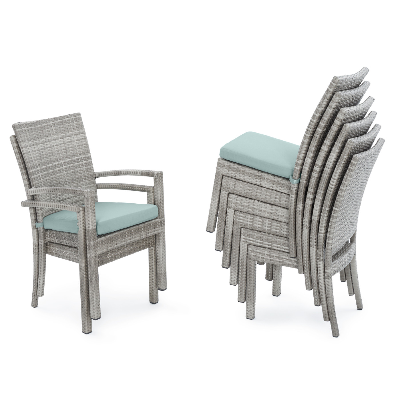 Cannes™ Woven Dining Set - Bliss Blue