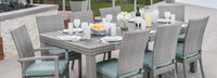 Cannes™ Woven Dining Set - Charcoal Gray