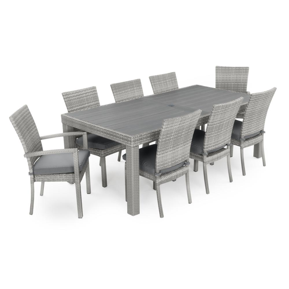 Cannes 9pc Dining Set - Charcoal Grey