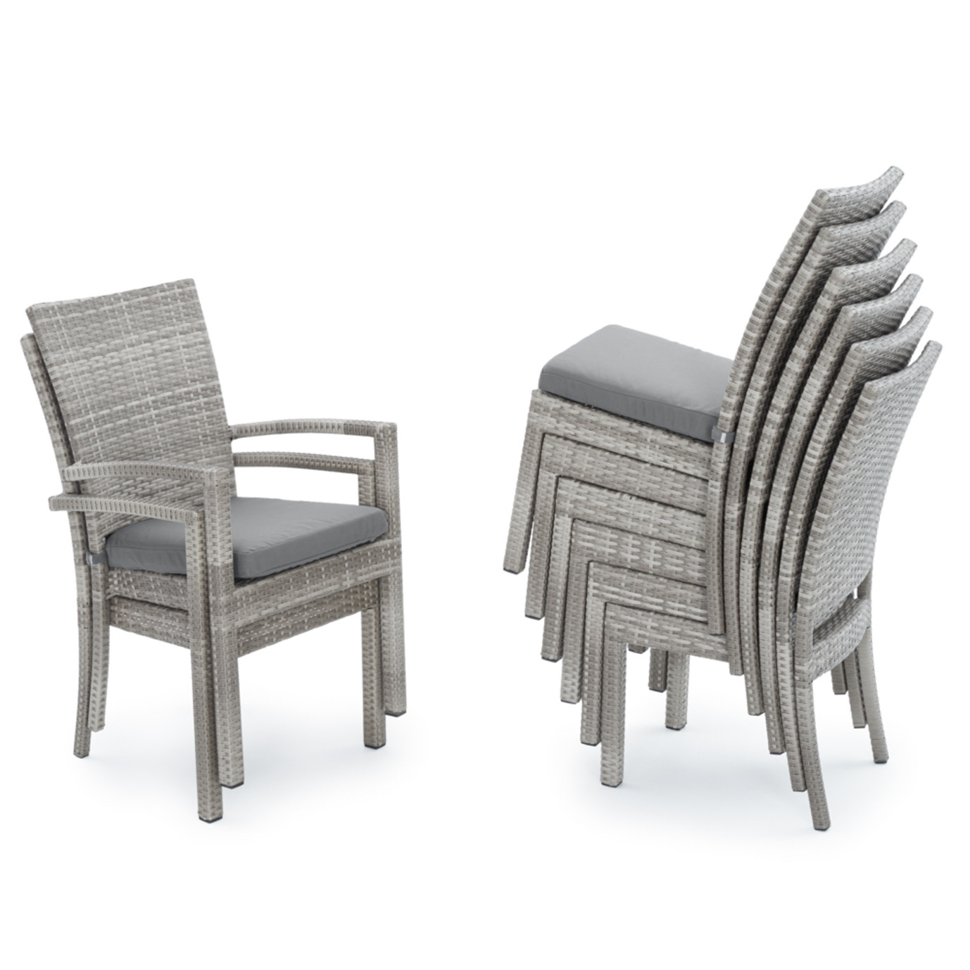 Cannes™ Woven Dining Set - Charcoal Grey